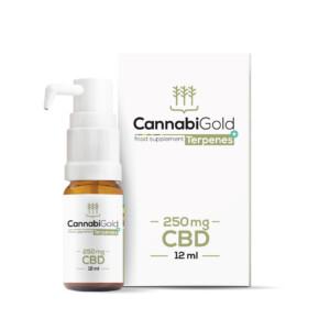 CannabiGold Olej CBD Terpenes+ 250 mg+ 250 mg